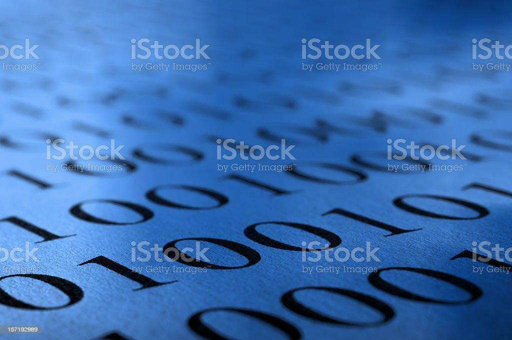 Binary royalty-free stock photo