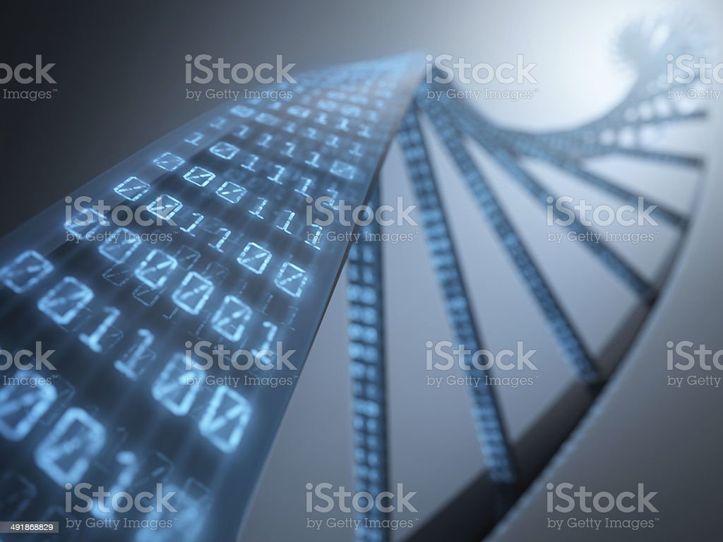 DNA Binary stock photo