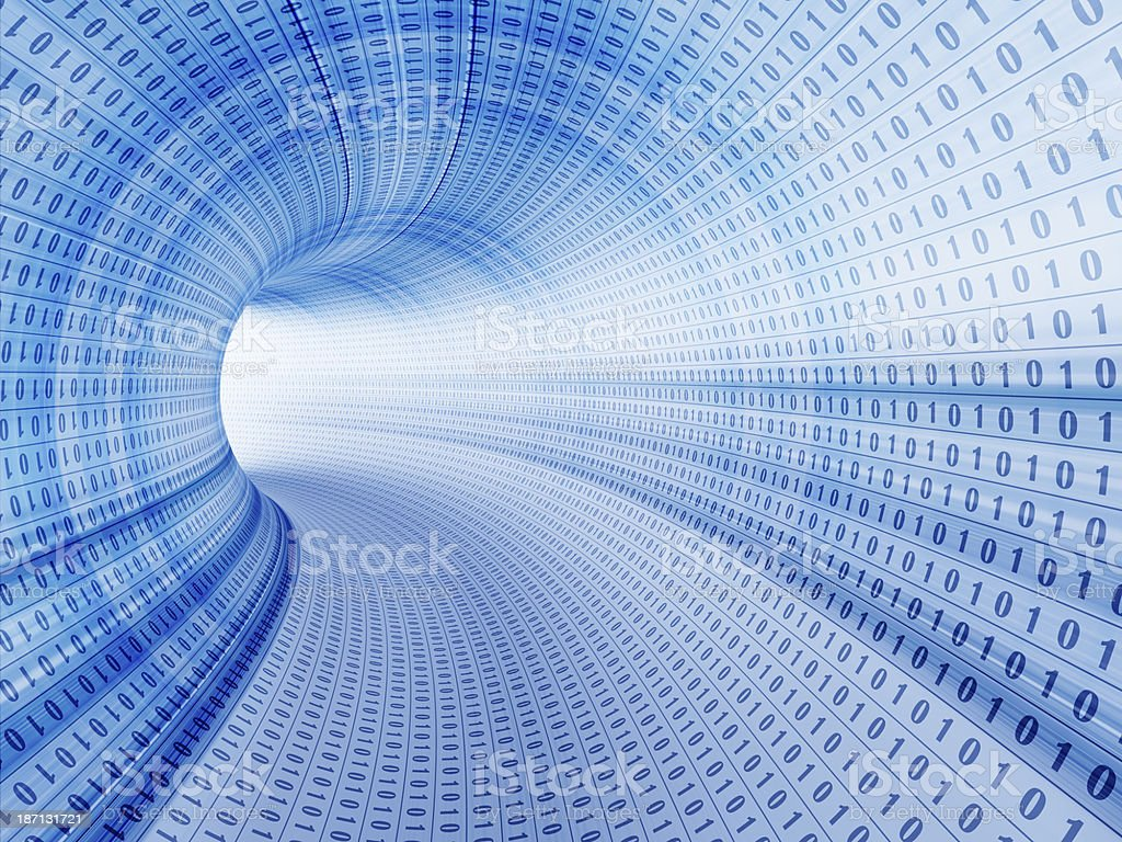 Binary stream, flow of information stock photo