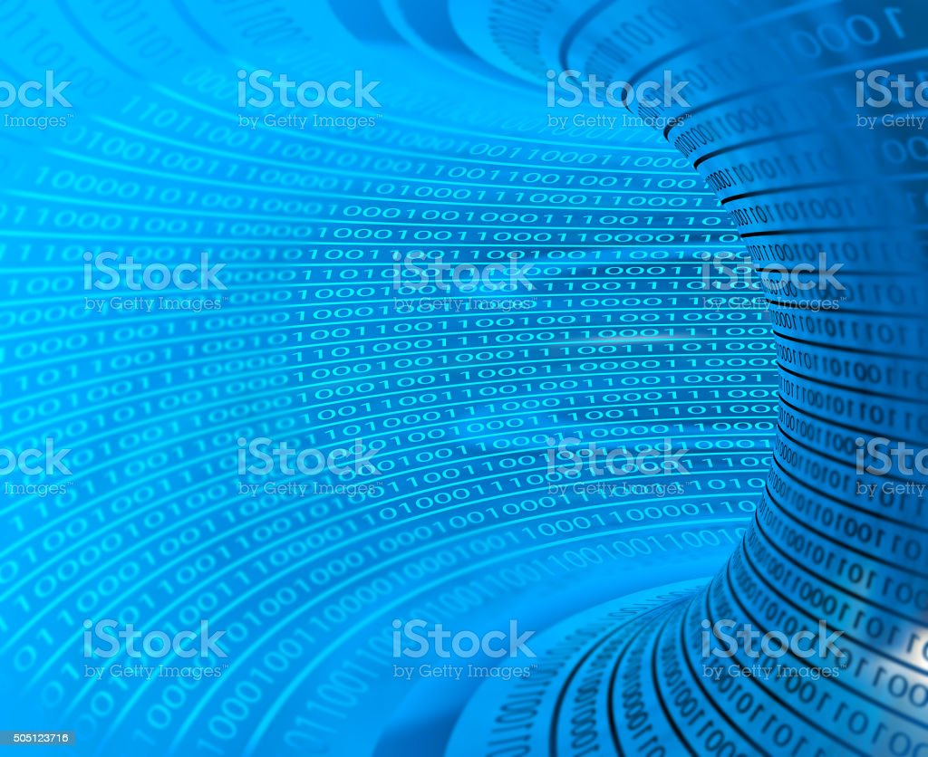 Binary Tunnel stock photo