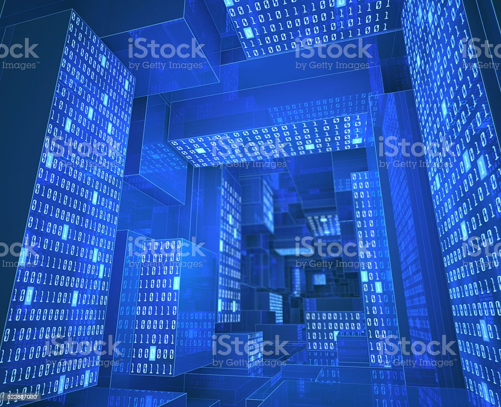 Binary Tunnel stock photo