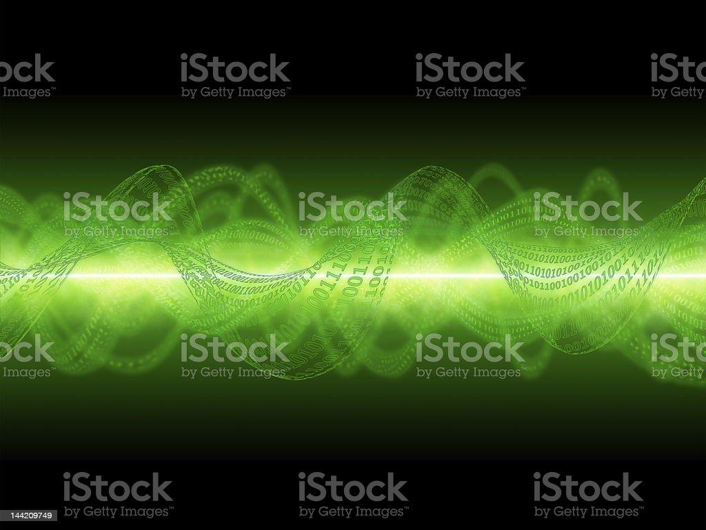 Binary waves background royalty-free stock photo