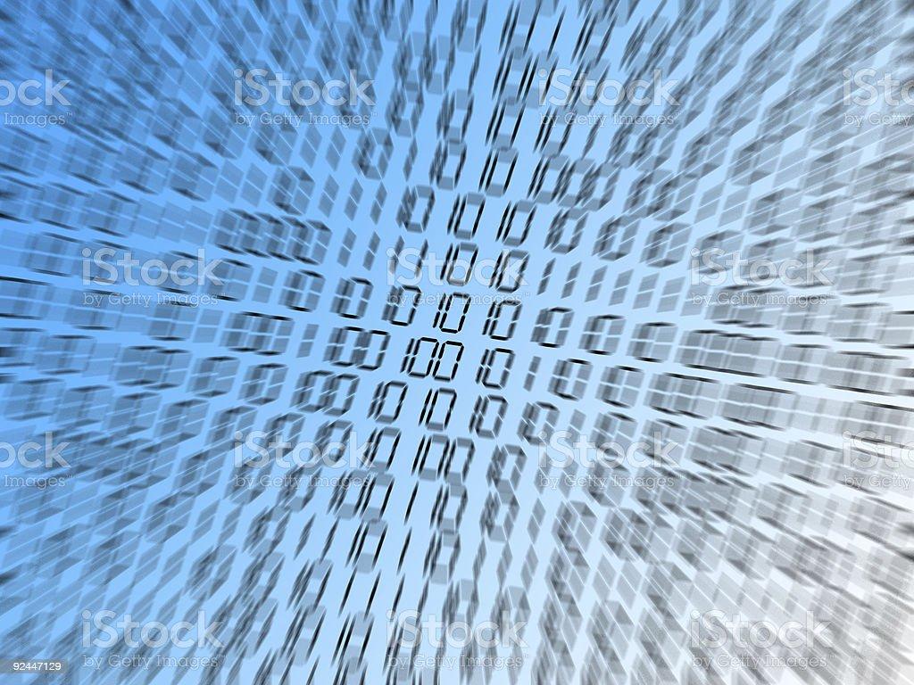 binary zoom! royalty-free stock photo
