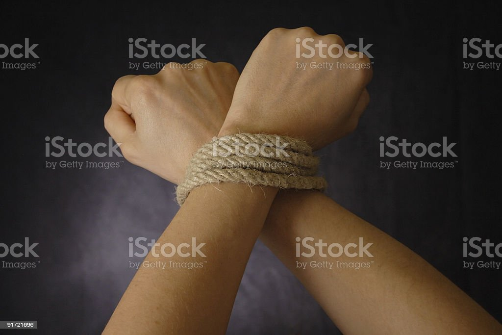 bind hand royalty-free stock photo