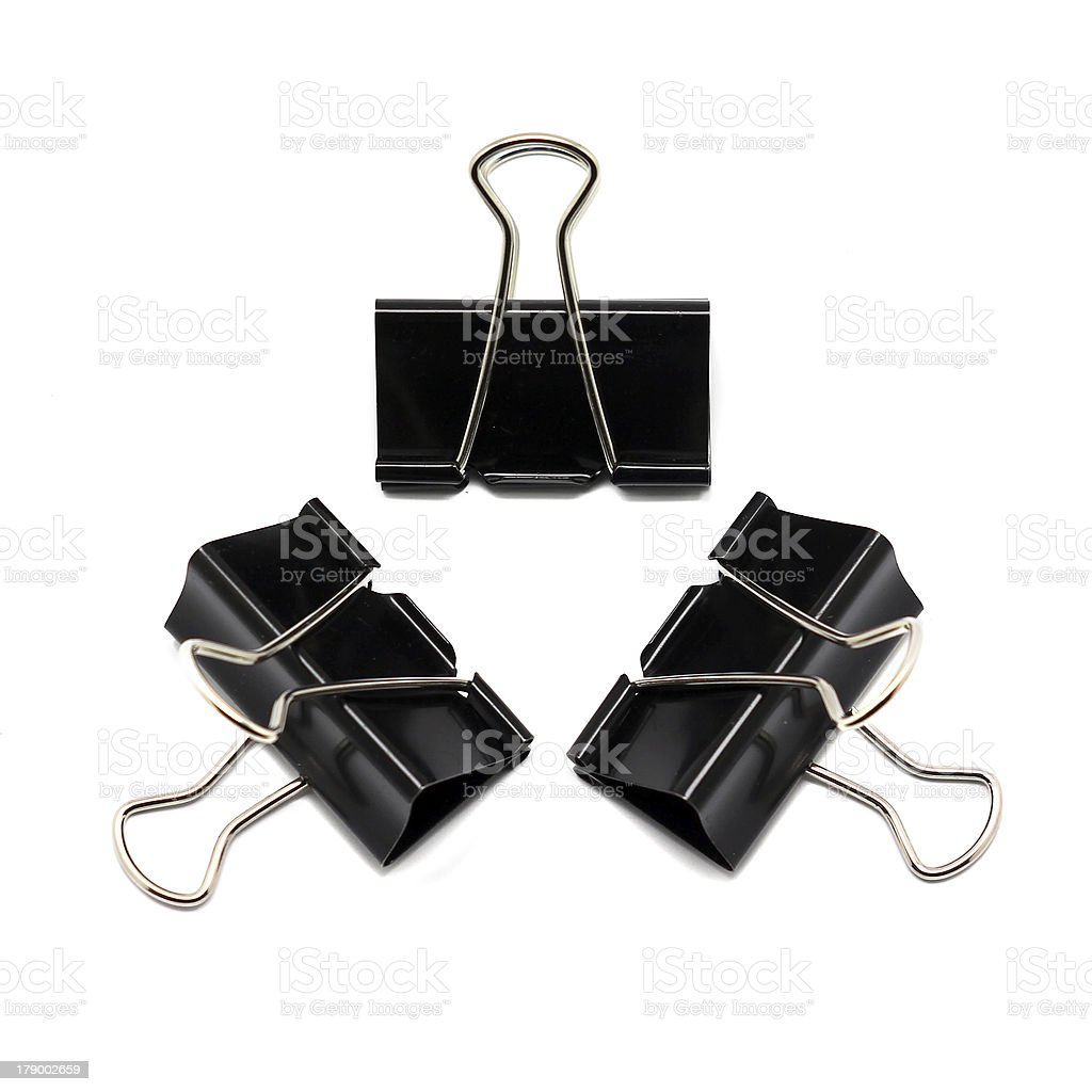 Binder clip royalty-free stock photo