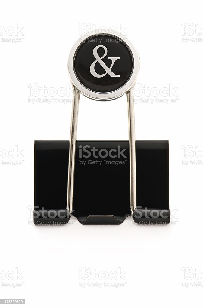 Binder Clip With & Sign royalty-free stock photo