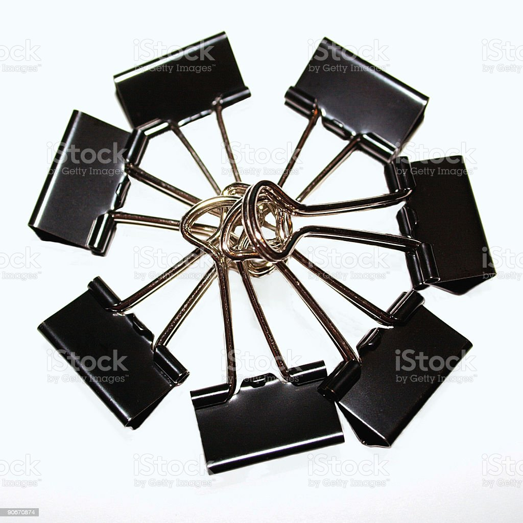 binder clips royalty-free stock photo