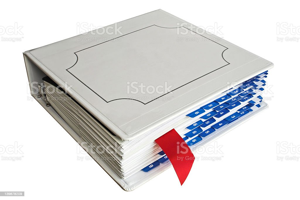 Binder with bookmark stock photo