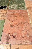 Bing Crosby hand and shoe prints in Hollywood CA