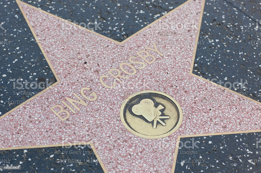 Bing Crosby star on the Hollywood Walk of Fame stock photo