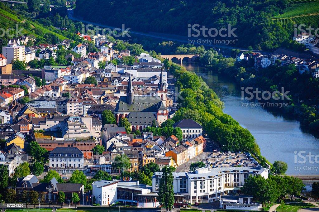 Bingen am Rhein and Rhine river, Rheinland-Pfalz, Germany stock photo