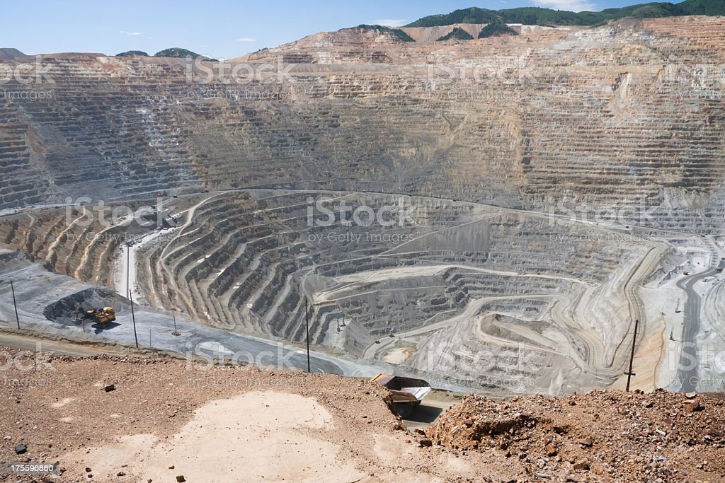 Bingham canyon open pit copper mine stock photo