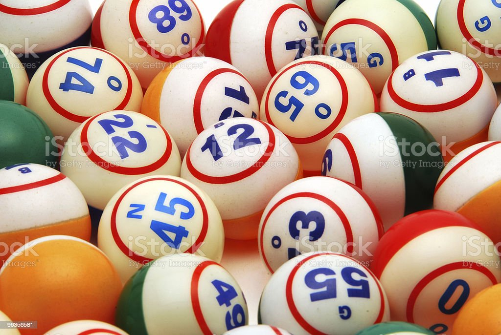 Bingo Ball Background stock photo
