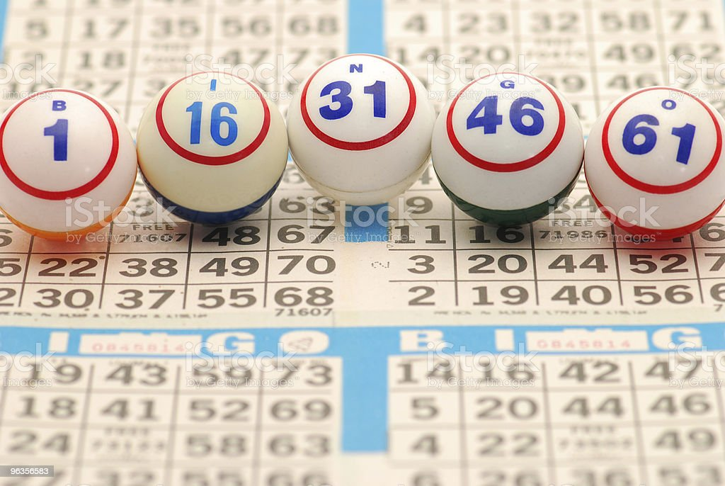 Bingo Ball on Card stock photo