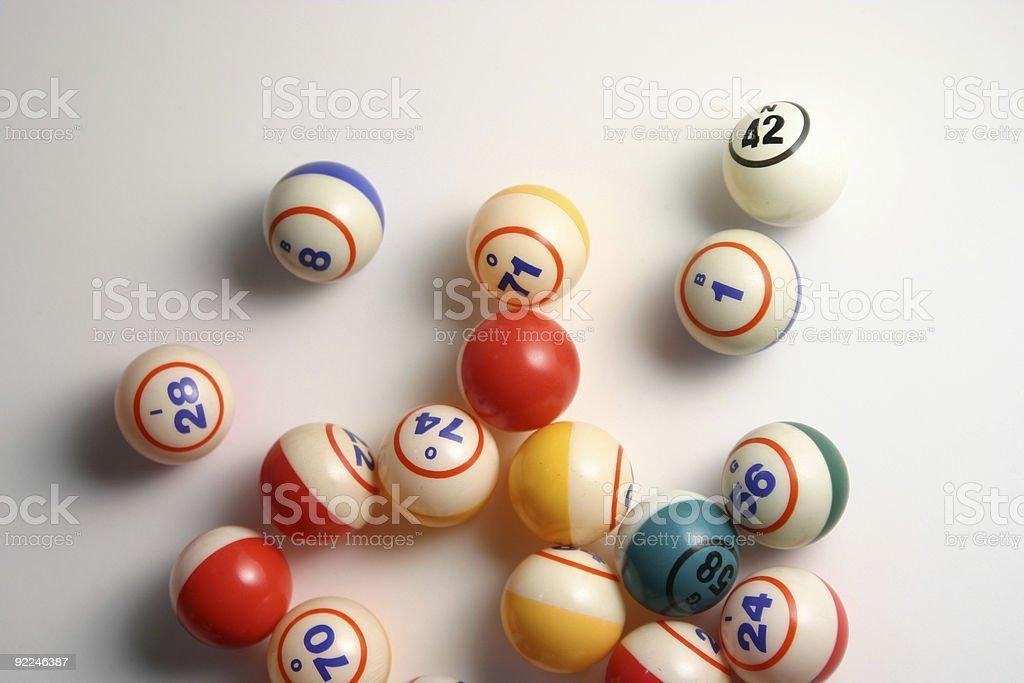 Bingo balls 1 stock photo