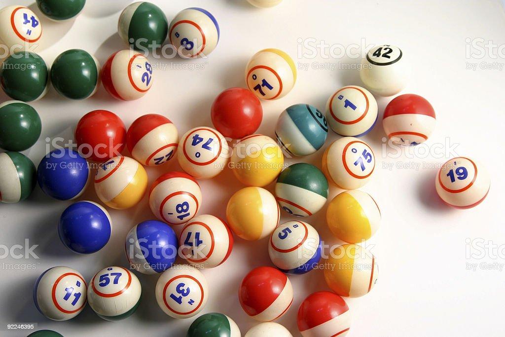 Bingo balls 3 stock photo