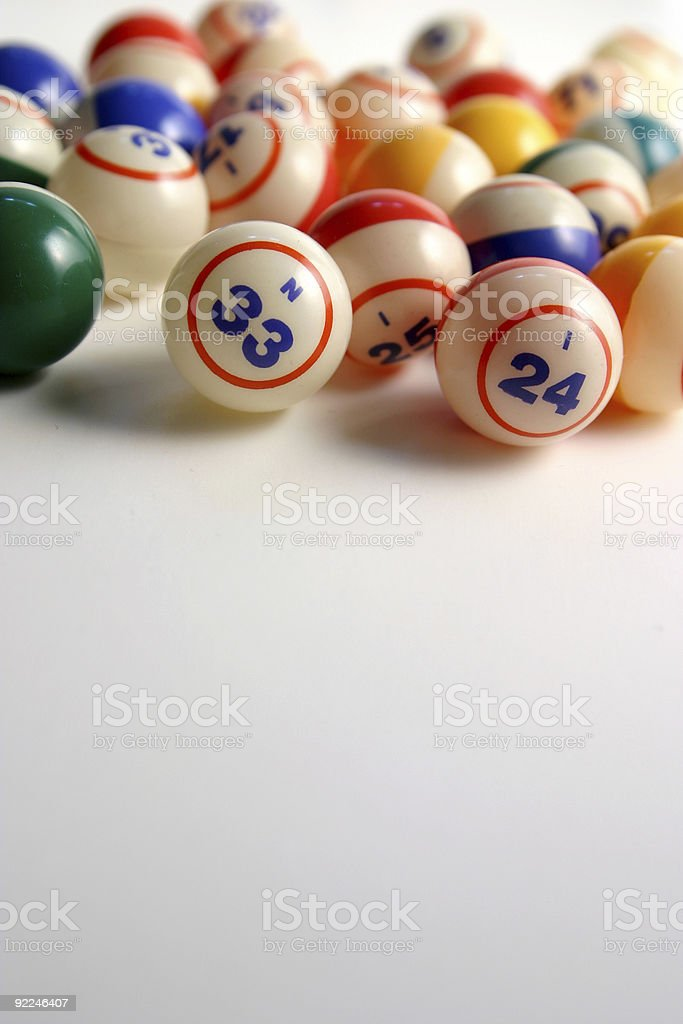 Bingo balls 5 stock photo