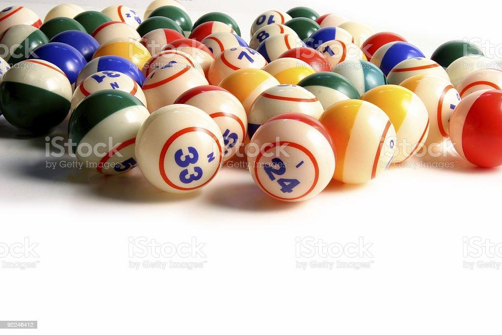 Bingo balls 6 stock photo
