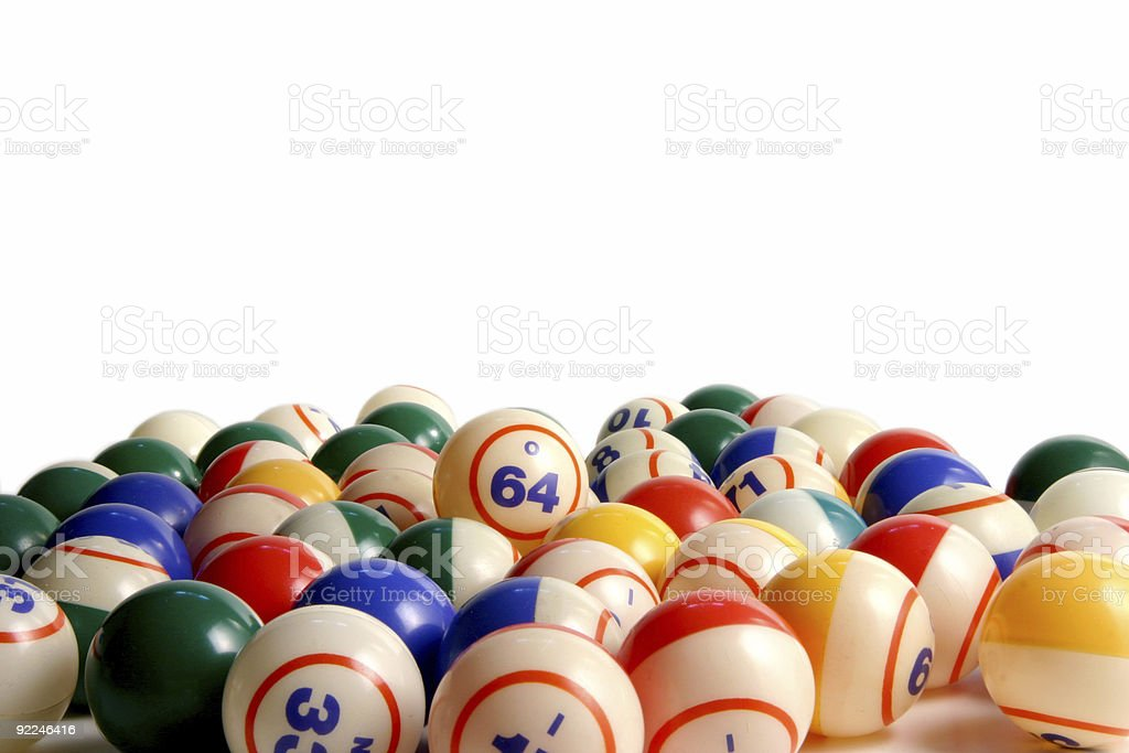 Bingo balls 7 stock photo