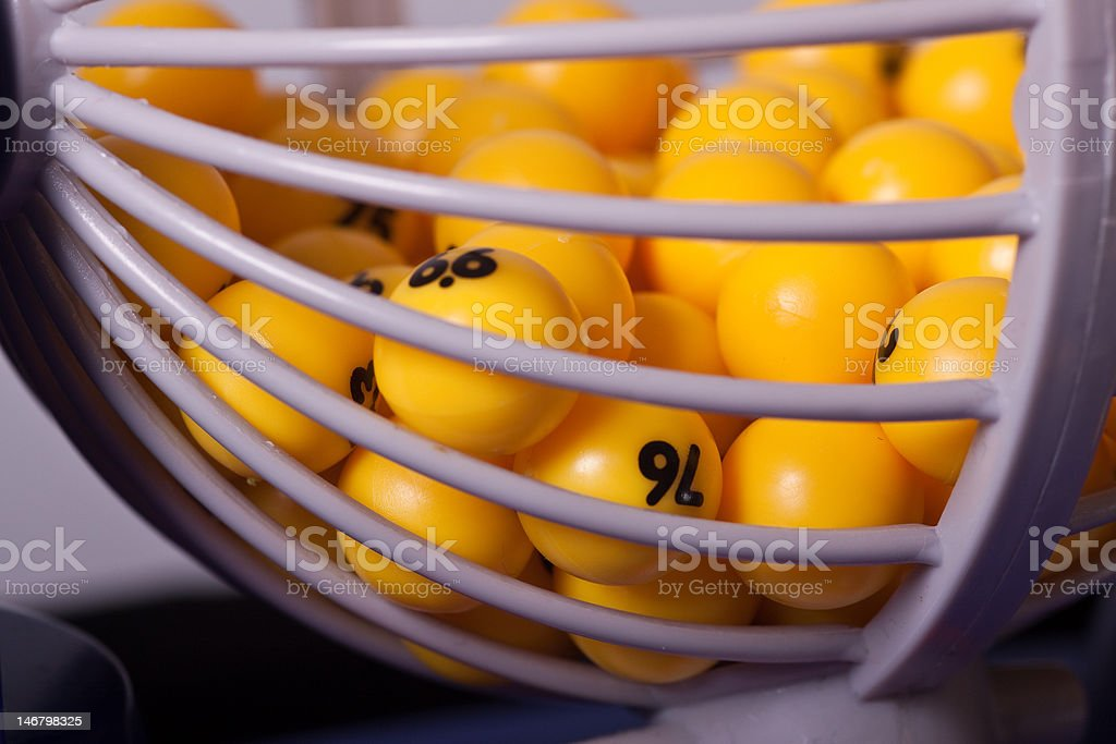 Bingo Balls in a Cage royalty-free stock photo