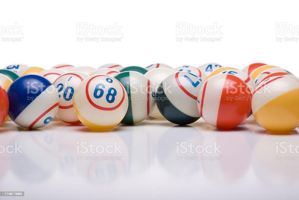 Bingo Balls stock photo