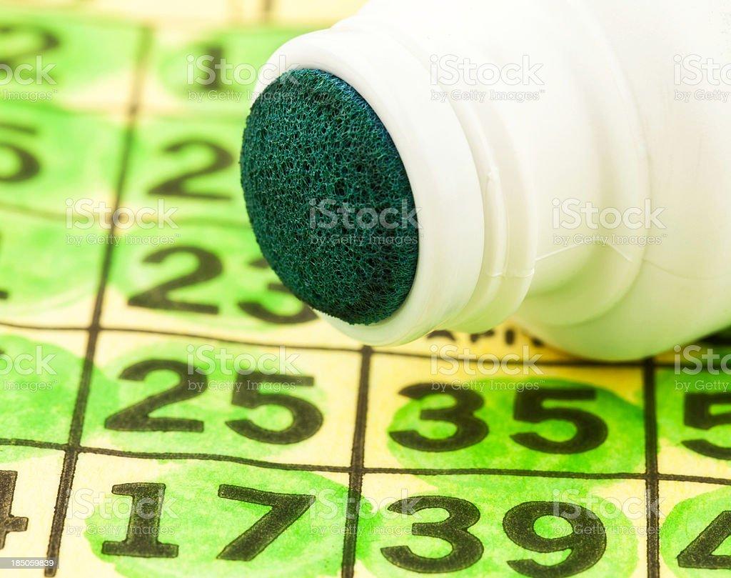 Bingo Cards and Dauber stock photo