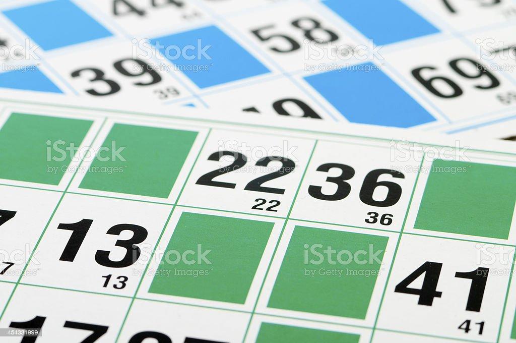 Bingo cards and number thirteen stock photo