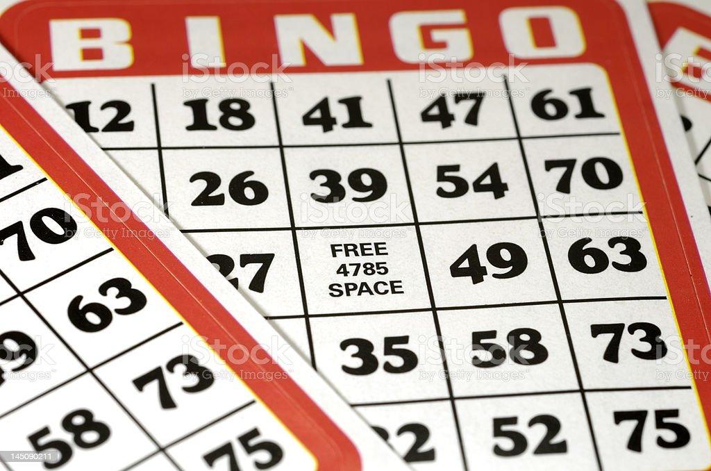 Bingo Cards stock photo
