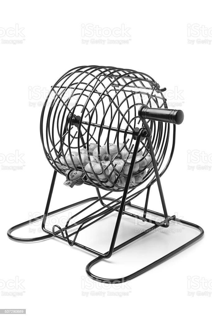 Bingo Game Cage stock photo