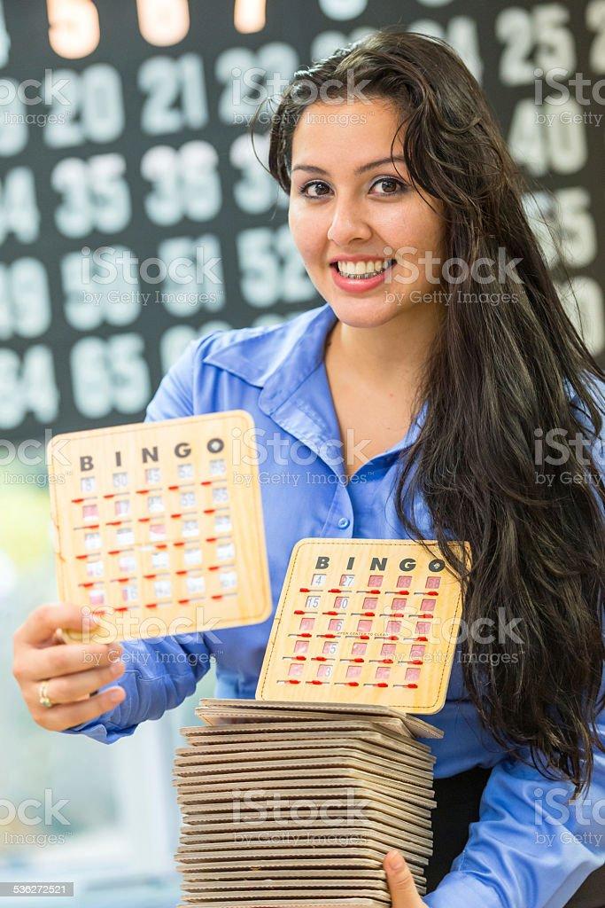 Bingo Girl stock photo