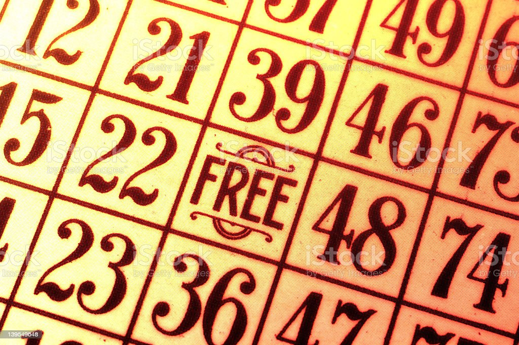 Bingo royalty-free stock photo