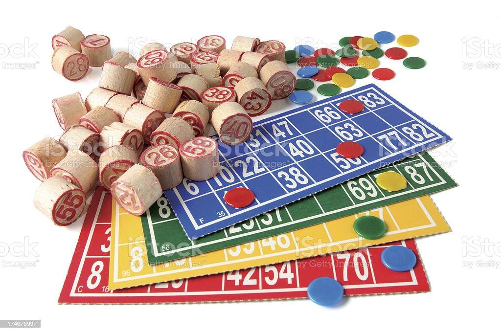 Bingo !  ( Isolated on White ) stock photo