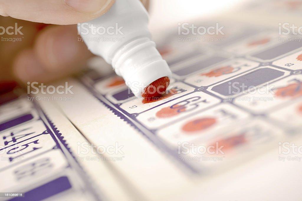 bingo playing stock photo