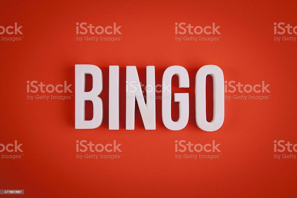 Bingo sign lettering stock photo