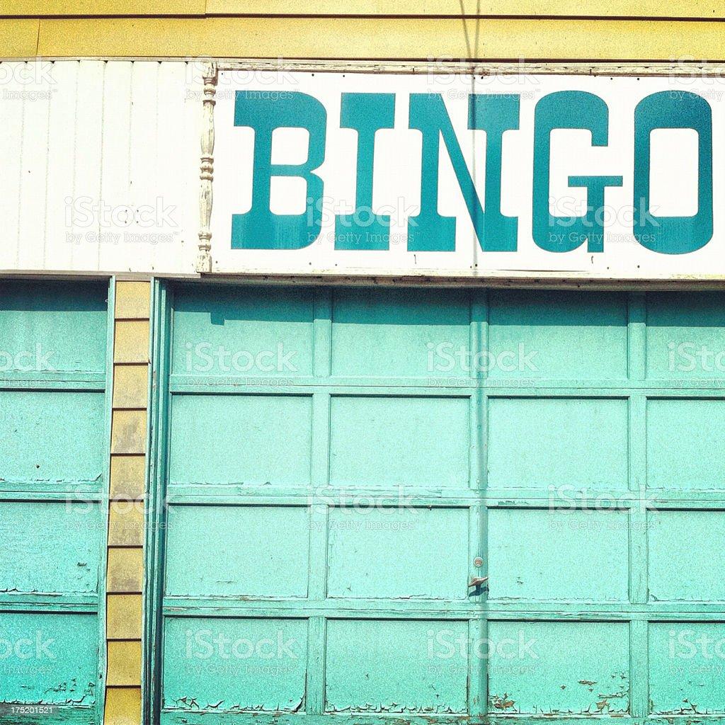 Bingo stand stock photo