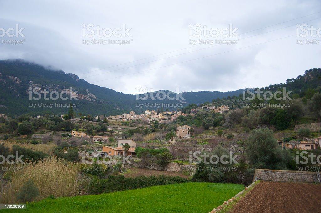 Biniaraix Village Majorca stock photo