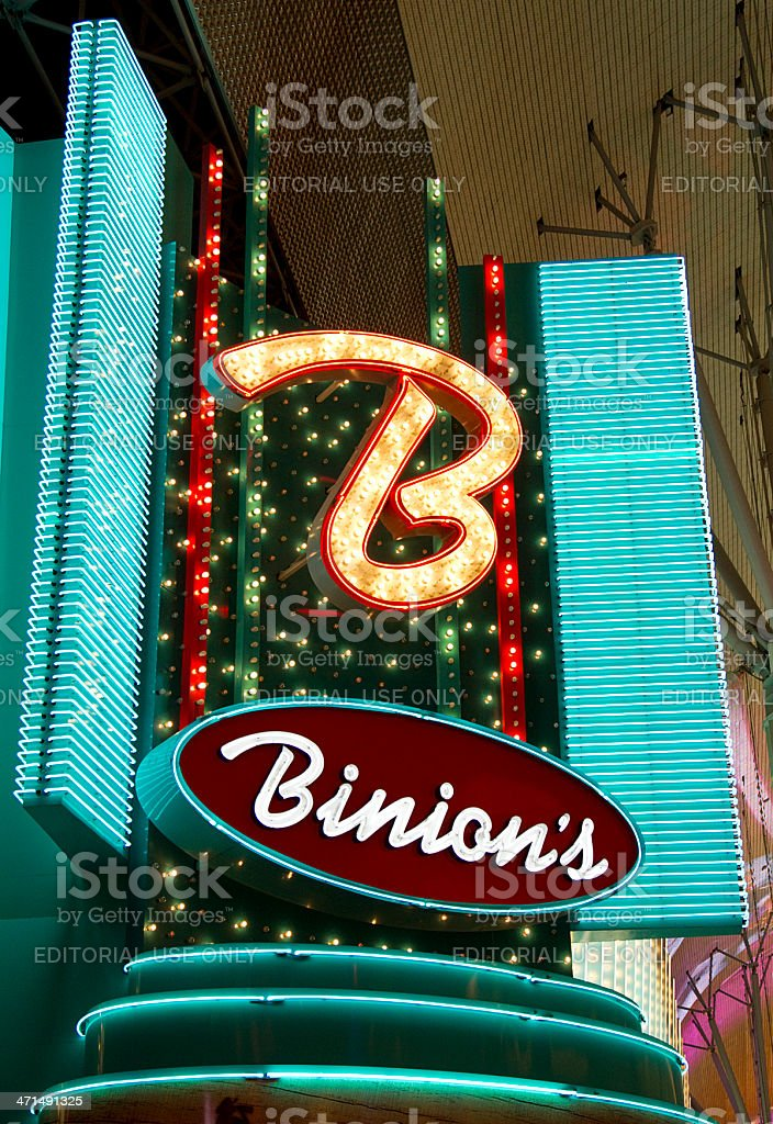 Binion's Hotel and Casino Nighttime royalty-free stock photo