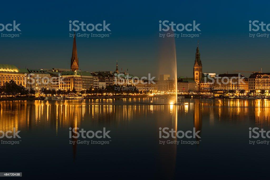 Binnenalster Hamburg stock photo
