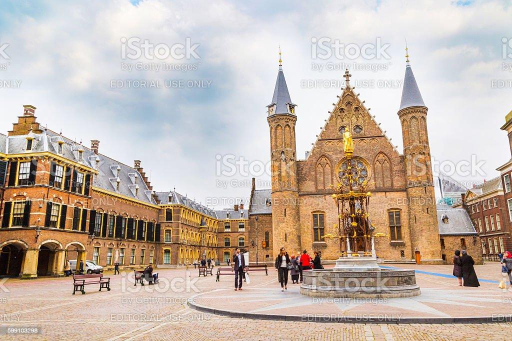 Binnenhof palace, place of dutch parliament in Hague, Holland stock photo
