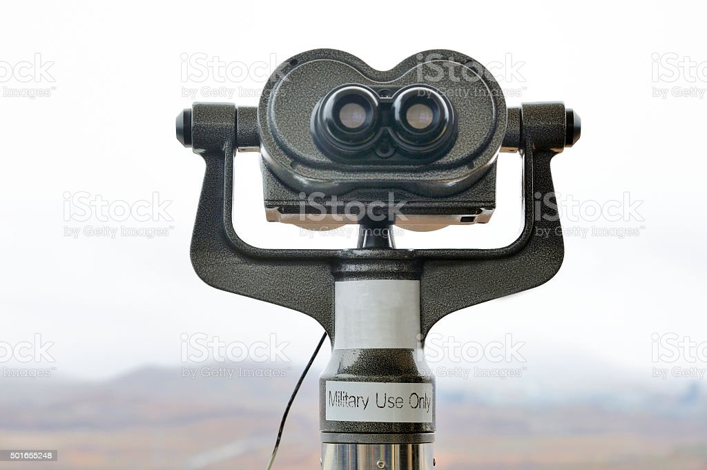 Binocular at the DMZ stock photo
