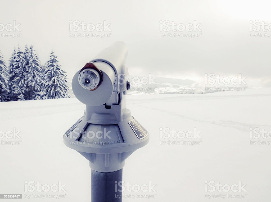 Binocular in Winter stock photo