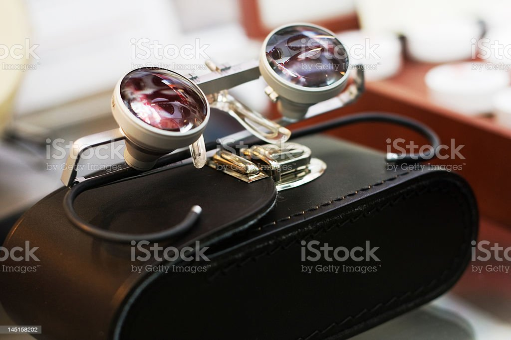 binocular loupe royalty-free stock photo
