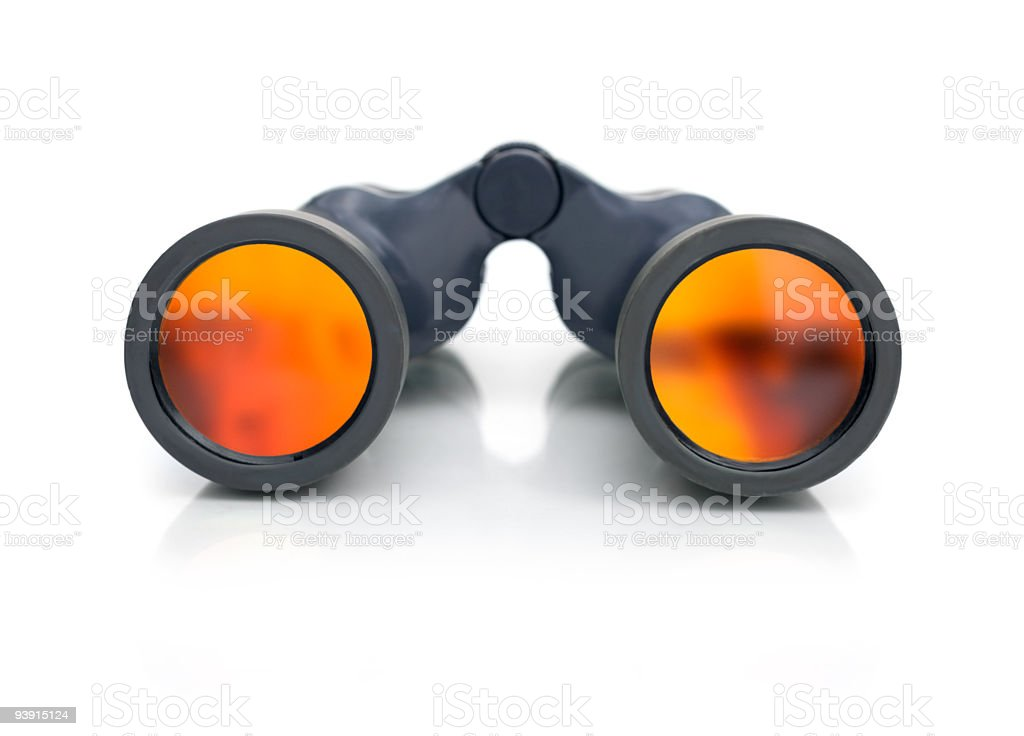 Binocular placed on white royalty-free stock photo