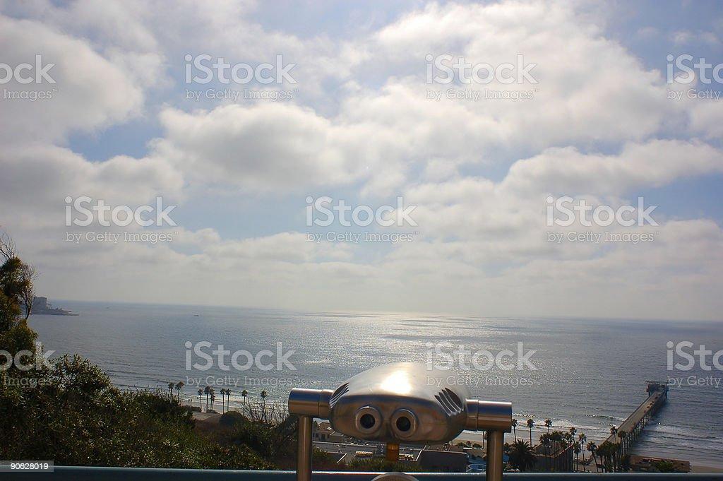 Binocular View of San Diego royalty-free stock photo