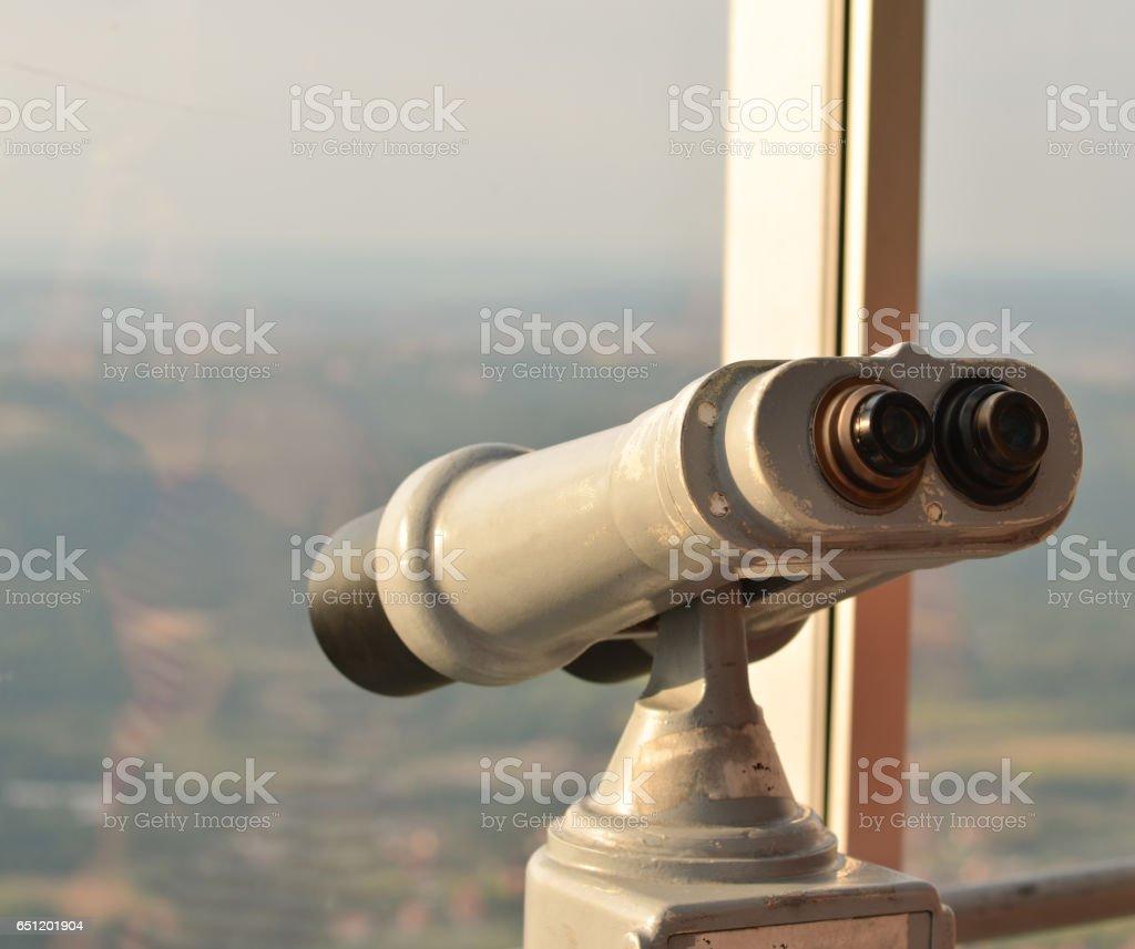 Binocular viewer stock photo