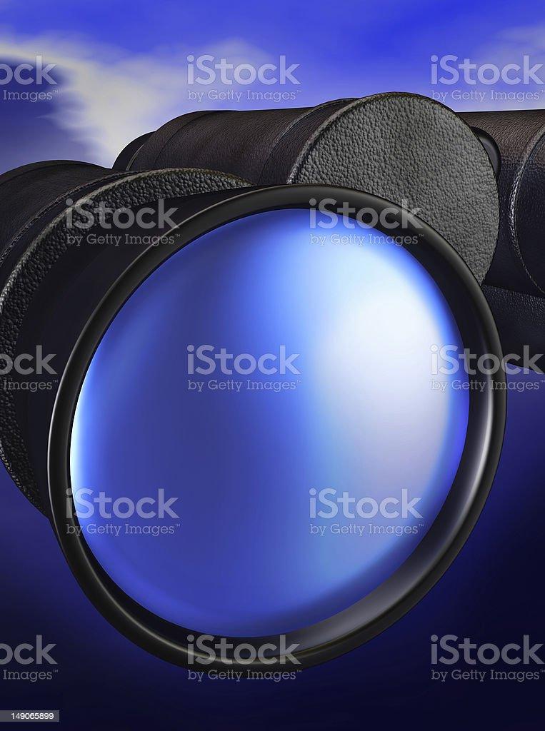binoculars 3d royalty-free stock photo