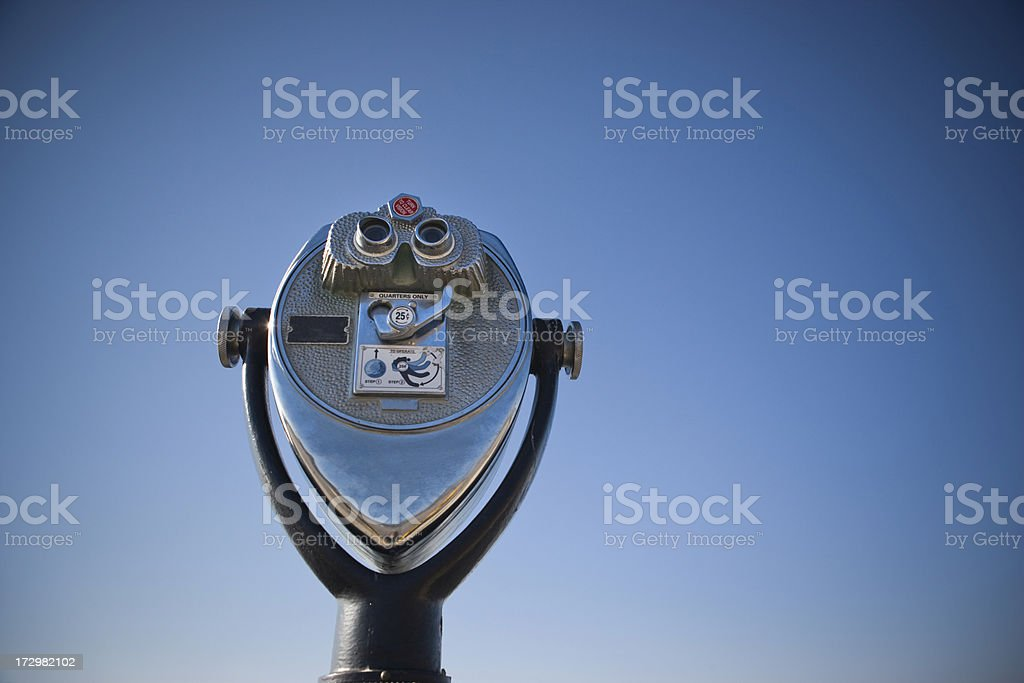 Binoculars against the sky royalty-free stock photo