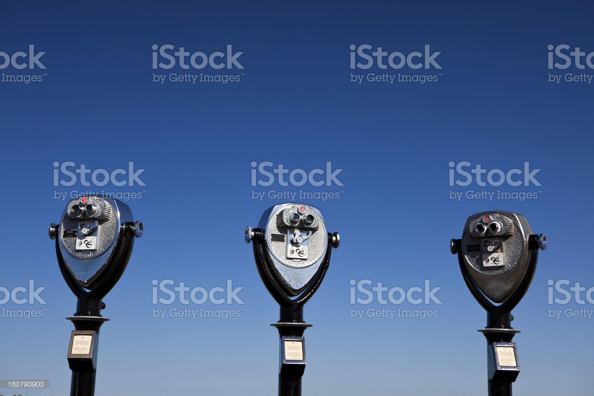 Binoculars against the sky royalty-free stock photo