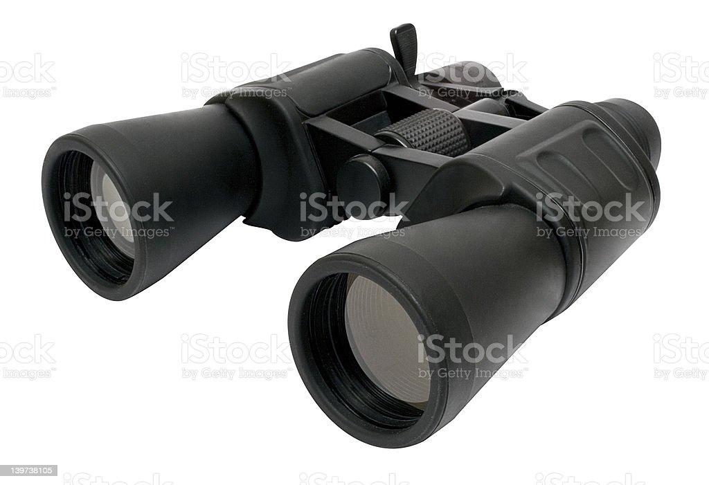 Binoculars Back - Top Side View w/ Path royalty-free stock photo