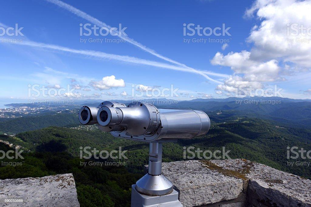 Binoculars for sightseeing stock photo